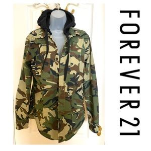 Camouflage Hoodie Jacket Excellent Condition